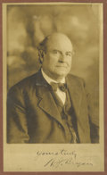 "Autographs:Statesmen, William Jennings Bryan Signed Photograph, ""yours truly W. J.Bryan"", 6.5"" x 11"", by Daines & Nickels, Ann Arbor,Michiga..."