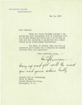 "Autographs:U.S. Presidents, Harry S. Truman Typed Letter Signed ""Harry S. Truman"" asPresident, one page, 7"" x 9"". The White House, Washington, May ..."