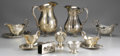 Miscellaneous: , GROUP OF MISCELLANEOUS SILVER PLATE. Group of miscellaneous silverplate includes: five sauceboats, three with attached un... (Total:8 )