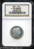 Proof Barber Quarters: , 1892 PR 67 Cameo NGC. ...