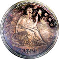 Proof Seated Quarters, 1845 25C PR66 NGC....