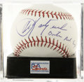 "Autographs:Baseballs, Carl Yastrzemski ""Boston Red Sox"" Single Signed Baseball, PSA GemMint 10. The AL's last Triple Crown of batting winner here..."