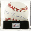 Autographs:Baseballs, Happy Chandler Single Signed Baseball, PSA Mint+ 9.5. Hall of Fameexecutive Happy Chandler was the baseball commissioner w...