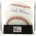Autographs:Baseballs, Bob Gibson Single Signed Baseball, PSA Mint+ 9.5. Tough as it is tobelieve, the author of this flawless sweet spot signatur...