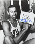 Autographs:Photos, Wilt Chamberlain Signed Oversized Photograph. Dominating thebackboard, Wilt Chamberlain was one of the most prolific score...