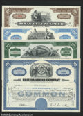 Stocks and Bonds:Early Turnpikes, Canals, & Bridges, Four Stock Certificates, Including Two Railroads.