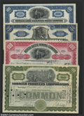 Stocks and Bonds:General Stocks & Bonds, Four ABNCo Stock Certificates with Nice Vignettes