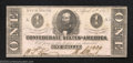 Confederate Notes:1863 Issues, 1863 $1 Clement C. Clay, T-62, Choice Crisp Uncirculated. This ...