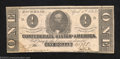 Confederate Notes:1863 Issues, 1863 $1 Clement C. Clay, T-62, Crisp Uncirculated. This note ...