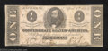 Confederate Notes:1863 Issues, 1863 $1 Clement C. Clay, T-62, Fine-Very Fine. An ideal ...