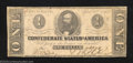 Confederate Notes:1863 Issues, 1863 $1 Clement C. Clay, T-62, Fine. This small denomination ...