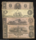 Confederate Notes:Group Lots, Four Confederate Types.