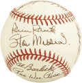 Autographs:Baseballs, Baseball Hall of Fame Multi-Signed Baseball. The ONL (White)baseball holds the autographs of ten members of the baseball H...