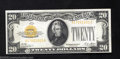 Small Size:Gold Certificates, 1928 $20 Gold Certificate, Fr-2402, XF-AU. A couple of ...