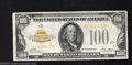 Small Size:Gold Certificates, 1928 $100 Gold Certificate, Fr-2405, Extremely Fine. This ...