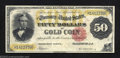 Large Size:Gold Certificates, 1882 $50 Gold Certificate, Fr-1197, Very Fine. This is a ...