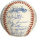 Autographs:Baseballs, 1997 Florida Marlins World Champion Team Signed Baseball. In 1997,just the franchise's fifth season of existence, the Flor...