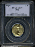 Modern Bullion Coins: , 1996 Quarter-Ounce Gold Eagle MS69 PCGS. ...