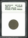 Errors: , 1859 1C Cent--Partial Collar, Reverse and Edge Damaged--...