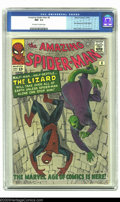 Silver Age (1956-1969):Superhero, Amazing Spider-Man #6 (Marvel, 1963) CGC NM- 9.2 Off-white to white pages. First appearance of the Lizard. Steve Ditko cover...