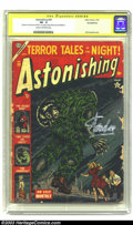 Golden Age (1938-1955):Horror, Astonishing #29 (Atlas, 1954) CGC PR 0.5 Cream to off-white pages,Incomplete. Signed by Stan Lee on 4/18/02. Decapitation c...
