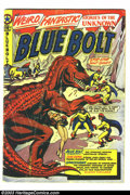 Golden Age (1938-1955):Science Fiction, Blue Bolt #107 (Star Publications, 1950) Condition: GD/VG. L. B.Cole dinosaur cover. Eight pages of Spacehawk by Basil Wolv...