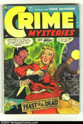 Golden Age (1938-1955):Horror, Crime Mysteries #15 (Ribage Publishing, 1954) Condition: GD/VG.Acid in face cover. A. C. Hollingsworth art. Water stains. O...
