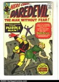 Silver Age (1956-1969):Superhero, Daredevil #4 (Marvel, 1964) Condition: VG. Purple Man appearance. Jack Kirby and Vince Colletta cover art. Joe Orlando and V...