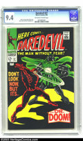 Silver Age (1956-1969):Superhero, Daredevil #37 (Marvel, 1968) CGC NM 9.4 Off-white to white pages. Dr. Doom appearance. Stan Lee story. Gene Colan cover. Joh...