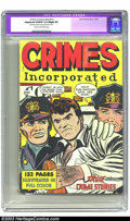 Golden Age (1938-1955):Crime, Fox Giants Crimes Incorporated (Fox Features Syndicate, 1950) CGC Apparent VG/FN 5.0 Slight (P) Cream to off-white pages. Sq...