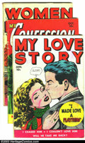 Golden Age (1938-1955):Romance, Fox Romance Group Lot (Fox, n/a) Condition: Average GD/VG. Fourcomics -- My Love Story #3, art by Wally Wood; My Conf... (Total: 4Comic Books Item)