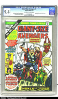 Bronze Age (1970-1979):Superhero, Giant-Size Avengers #1 (Marvel, 1974) CGC NM 9.4 Off-white to whitepages. Featuring the second appearance of the Invaders, ...