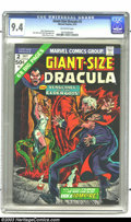 Bronze Age (1970-1979):Horror, Giant-Size Dracula #2 (Marvel, 1974) CGC NM 9.4 Off-white pages.Pablo Marcos cover, Don Heck and Frank McLaughin art. There...