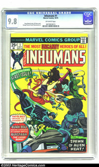 The Inhumans #1 (Marvel, 1975) CGC NM/MT 9.8 Off-white pages. Doug Moench story. Gil Kane cover. George Perez and Frank...