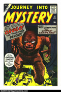 Silver Age (1956-1969):Mystery, Journey into Mystery #57 (Marvel, 1960) Condition: VG+. There isminor water damage at the bottom corners, it is otherwise V...