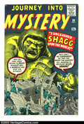 Silver Age (1956-1969):Mystery, Journey into Mystery #59 (Marvel, 1960) Condition: FN/VF. JackKirby and Steve Ditko art. Overstreet 2003 FN 6.0 value = $54...