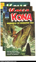 Silver Age (1956-1969):Adventure, Kona Group (Dell, 1962-66) Condition: Average FN-. This lot consists of issues #3 (two copies); 4 (three copies); 5-13; and ... (Total: 15 Comic Books Item)