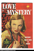 Golden Age (1938-1955):Romance, Love Mystery #2 (Fawcett, 1950) Condition: FN/VF. George Evans art. Rusty staples with some migration, otherwise VF/NM. Over...