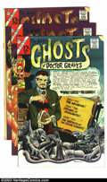 Silver Age (1956-1969):Horror, Many Ghosts of Dr. Graves Group (Charlton, 1967-69). This lotconsists of issues #1 (VG), 2 (VF/NM), 2 (VG), 12 (VF/NM), 12 ...(Total: 6 Comic Books Item)