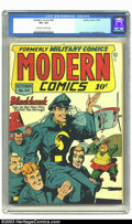 Golden Age (1938-1955):War, Modern Comics #54 (Quality, 1946) CGC VF+ 8.5 Off-white to whitepages. Art by Reed Crandall. Torchy backup story by Bill Wa...
