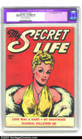 """Golden Age (1938-1955):Romance, My Secret Life #24 (Fox Features Syndicate, 1949) CGC Apparent VG+4.5 Slight (A) Cream to off-white pages. CGC notes """"Resto..."""