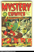Golden Age (1938-1955):Superhero, Mystery Comics #4 (Wise Publications, 1944) Condition: VG-. Starring Lance Lewis and Wonderman, among others. Alex Schomburg...