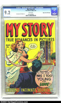 Golden Age (1938-1955):Romance, My Story #5 Mile High pedigree (Fox Features Syndicate, 1949) CGCNM- 9.2 White pages. Jack Kamen and Al Feldstein art. This...