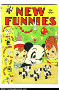 Golden Age (1938-1955):Funny Animal, New Funnies #71 (Dell, 1943) Condition: VG-. Andy Panda in theworld of real people story. Overstreet 2003 VG 4.0 value = $4...