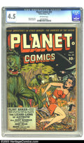 Golden Age (1938-1955):Science Fiction, Planet Comics #25 (Fiction House, 1943) CGC VG+ 4.5 Off-whitepages. Graham Ingels art. Overstreet 2003 VG 4.0 value = $256....