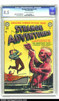 """Golden Age (1938-1955):Science Fiction, Strange Adventures #21 (DC, 1952) CGC VF+ 8.5 Off-white to whitepages. Murphy Anderson cover with """"The Monster That Fished ..."""