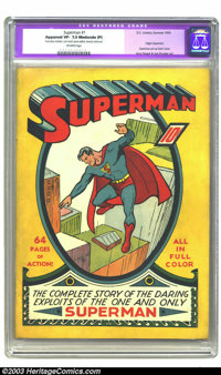 Superman #1 (DC, 1939) CGC Apparent VF- 7.5 Moderate (P) Off-white pages. Historic first issue. Origin Superman. Jerry S...