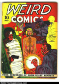 Golden Age (1938-1955):Horror, Weird Comics #2 (Fox, 1940) Condition: VG-. Cover art by Lou Fine.Cover detached from bottom staple. Overstreet 2003 VG 4.0...