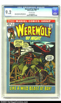 Bronze Age (1970-1979):Horror, Werewolf by Night #2 (Marvel, 1972) CGC NM- 9.2 Off-white pages.Gerry Conway story. Mike Ploog cover. Ploog and Frank Chiar...