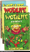 Golden Age (1938-1955):Funny Animal, Wotalife Comics Group (Fox, 1946-47) Condition: Average GD+. Eightissues with Cosmo Cat, Li'l Pan, and other funny features...(Total: 8 Comic Books Item)